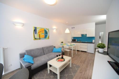 Część wypoczynkowa w obiekcie Apartament Solna 11 Kołobrzeg