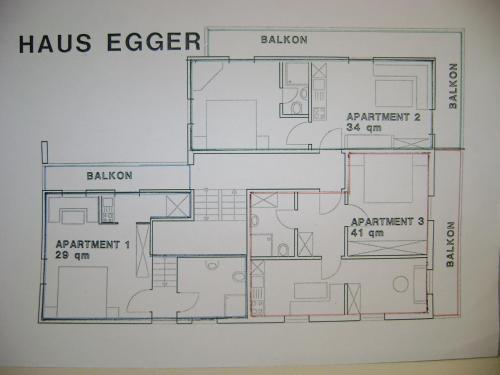 Grundriss der Unterkunft Haus Egger