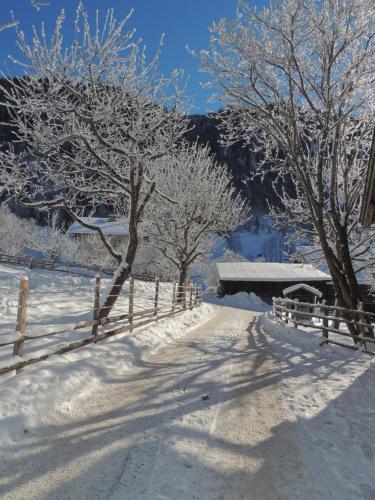 Hoislbauerngut during the winter