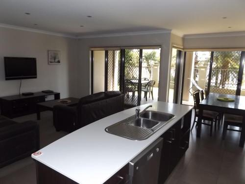 A kitchen or kitchenette at Cypress Water Front Apartments 37C & 39D