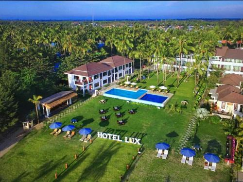 A bird's-eye view of Hotel Lux