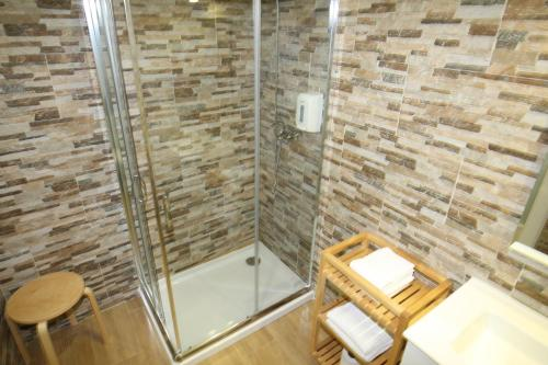 A bathroom at Fishtail Sea House