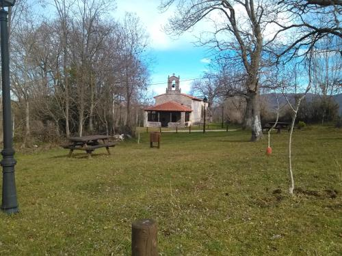 Jardín al aire libre en La casa de castillo