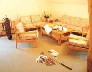 Ein Sitzbereich in der Unterkunft Golfhotel Blaue Ente