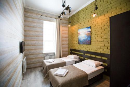 Кровать или кровати в номере Объект 784