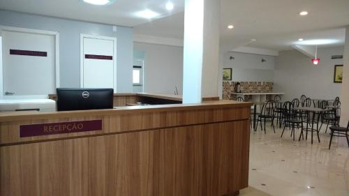 The lobby or reception area at Lotus Hotel & Hostel