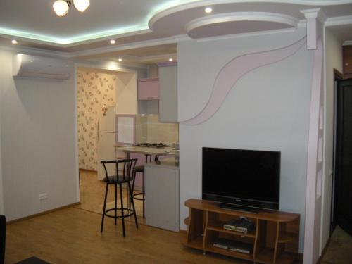A television and/or entertainment center at Apartments on Metro Druzhba
