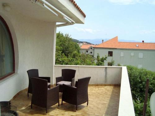 A balcony or terrace at Apartman Marija Krok