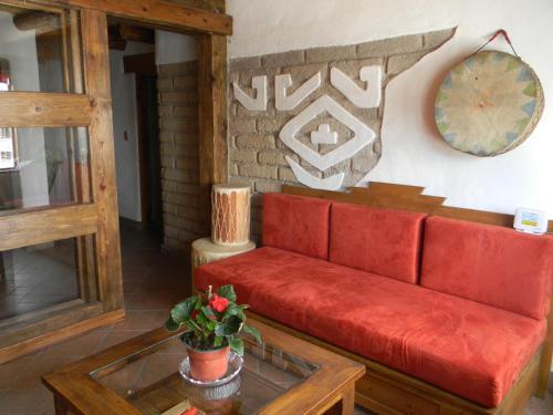 A seating area at La Troje de Adobe