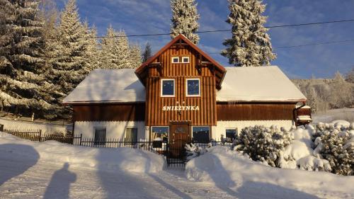 Obiekt Śnieżynka zimą