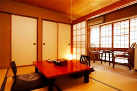 Dining area at the ryokan