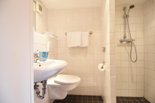 Salle de bains dans l'établissement De Leydsche Hof