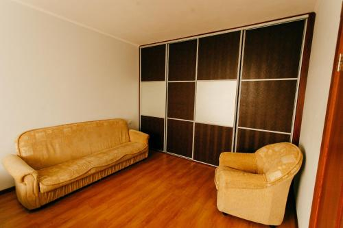 Гостиная зона в 1-room Apartment in city Centre on Maksima Gorkogo street 83