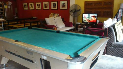 A billiards table at Betel Box Backpackers Hostel
