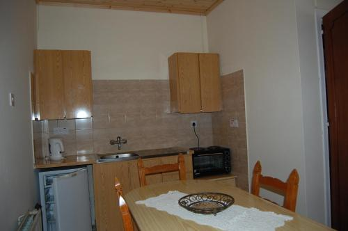 A kitchen or kitchenette at Nicos & Olympia Apartments
