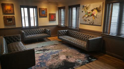 A seating area at East Norwich Inn