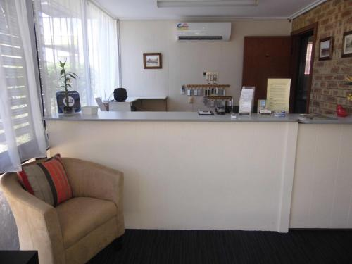 The lobby or reception area at Nanango Fitzroy Motel