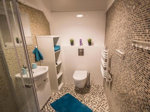 Łazienka w obiekcie Apartamenty Jęczmienna 22