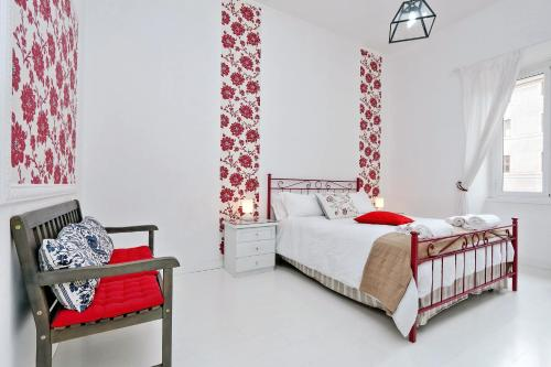 A bed or beds in a room at Apartment Antonia certified sanitization every check