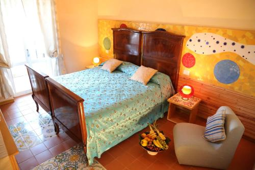 Giường trong phòng chung tại Albergo Ristorante Cavaliere