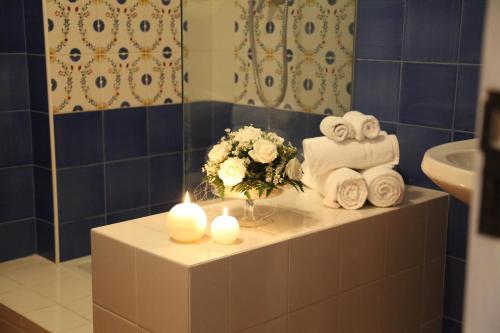 Phòng tắm tại Albergo Ristorante Cavaliere