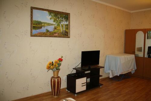 Телевизор и/или развлекательный центр в Apartment at Gorkogo