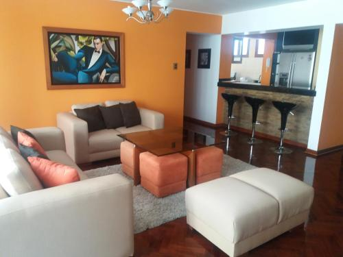 A seating area at Miraflores