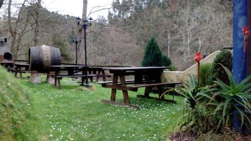 Jardín al aire libre en Apartamentos Rurales Les Mestes