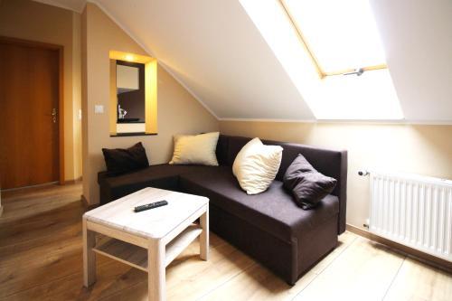 Ein Sitzbereich in der Unterkunft Apartments Röhrstraße