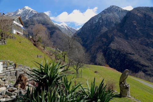 Ein allgemeiner Bergblick oder ein Berglick von des Bed & Breakfasts aus