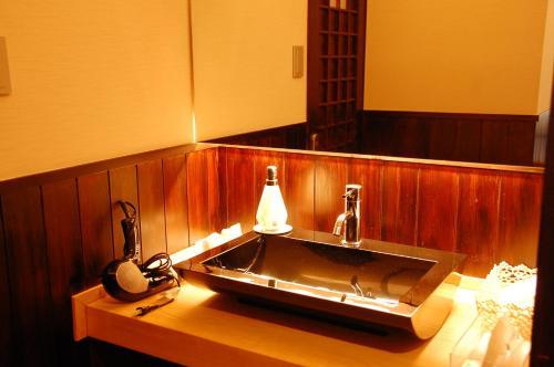 A bathroom at Ryokan Fujimoto
