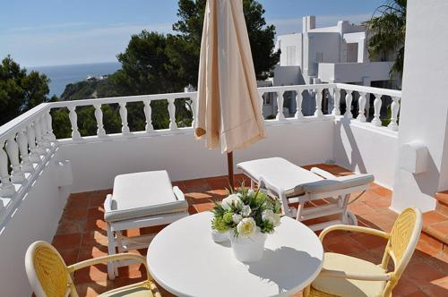 A balcony or terrace at Hotel Village