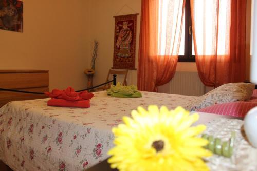 Letto o letti in una camera di Appartamento Galileo