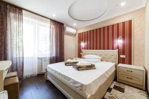 Кровать или кровати в номере Гостевой дом Dev-Life