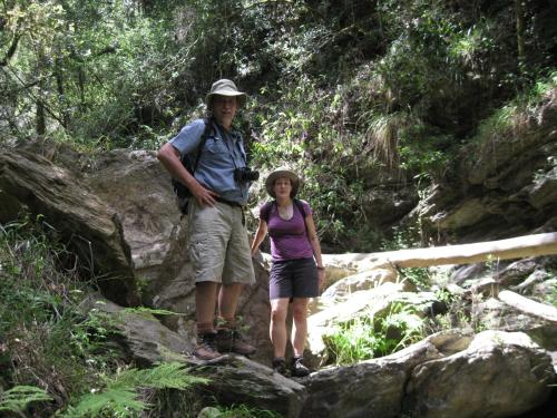A family staying at Kalanderkloof cottage