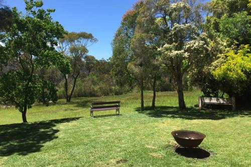 A garden outside Kookaburra Retreat