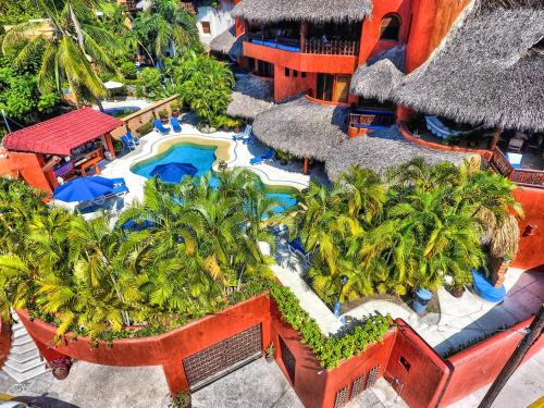 A bird's-eye view of Villa Carolina Boutique Hotel ADULTS ONLY
