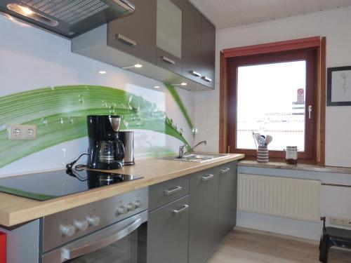 Küche/Küchenzeile in der Unterkunft Haus Elbtalaue