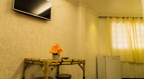 A television and/or entertainment center at Hotel Pousada Recanto