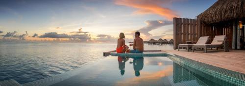 The swimming pool at or near Conrad Bora Bora Nui