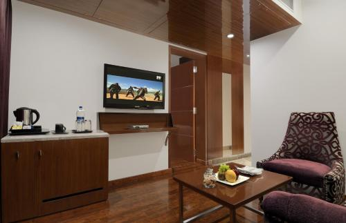 A television and/or entertainment center at The Elanza Hotel, Bangalore