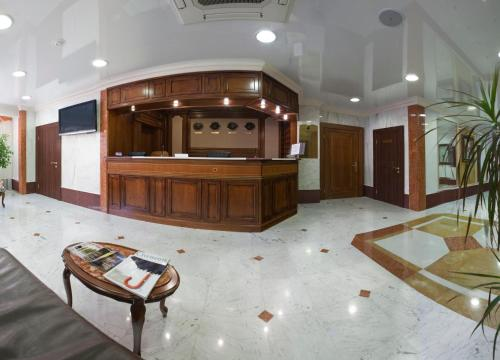 The lobby or reception area at Polaris