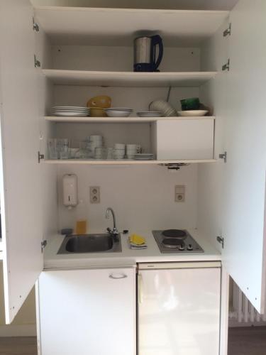 Küche/Küchenzeile in der Unterkunft Logies De Wandelaar