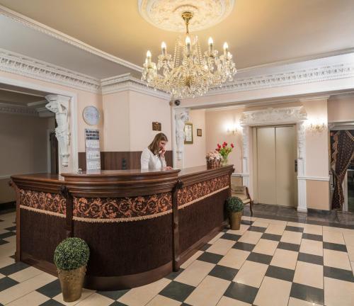 The lobby or reception area at Hotel Maria Helena