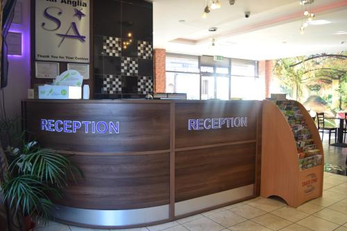 The lobby or reception area at Star Anglia Hotel