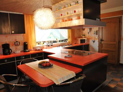 A kitchen or kitchenette at Quaint Villa in Amel with Sauna