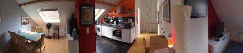 Küche/Küchenzeile in der Unterkunft FeWo im Herzen Heidelbergs