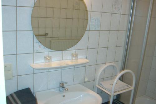 Ein Badezimmer in der Unterkunft Hotel Bürgerstube