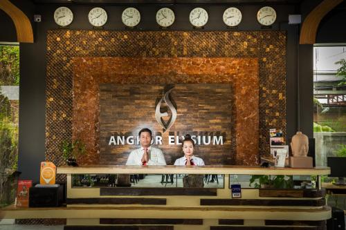 The lobby or reception area at Angkor Elysium Suite