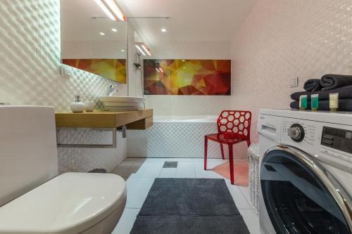 Vannituba majutusasutuses Hilltop Apartments - City Centre Foorum